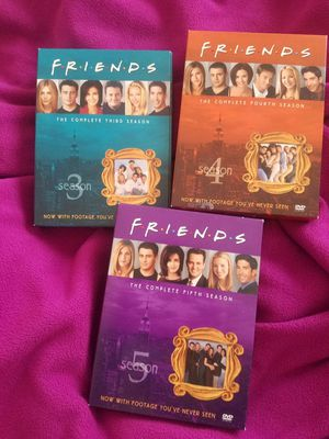 Friends, complete 3rd, 4th and 5th seasons