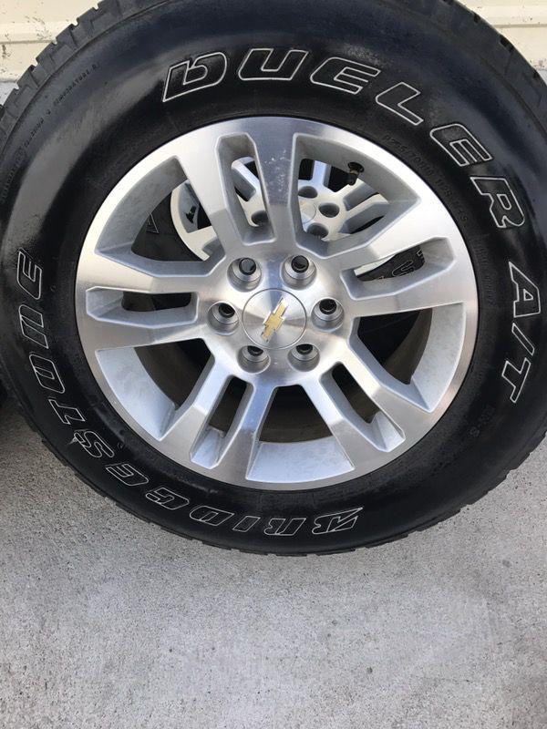 2017 chevy silverado z71 18 inch wheels and bridgestone all terrain tires auto parts in. Black Bedroom Furniture Sets. Home Design Ideas