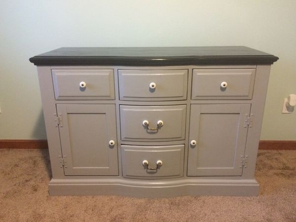 Beautiful antique solid wood dresser buffet furniture in for Furniture in everett