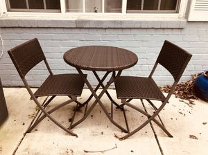 3 piece folding table patio bistro set