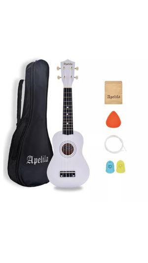 Brand new white ukulele