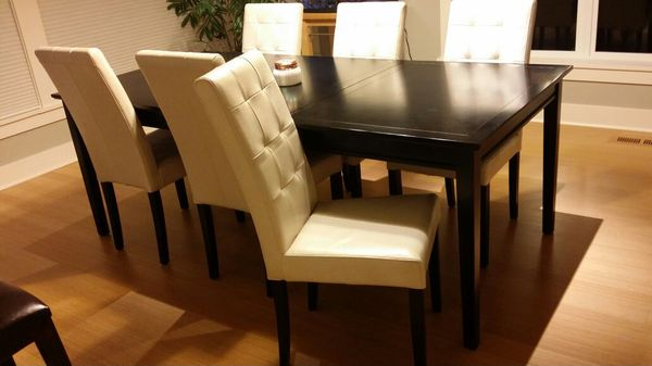 Pottery Barn Dining Room And Six Leather Chairs Furniture In Seattle WA