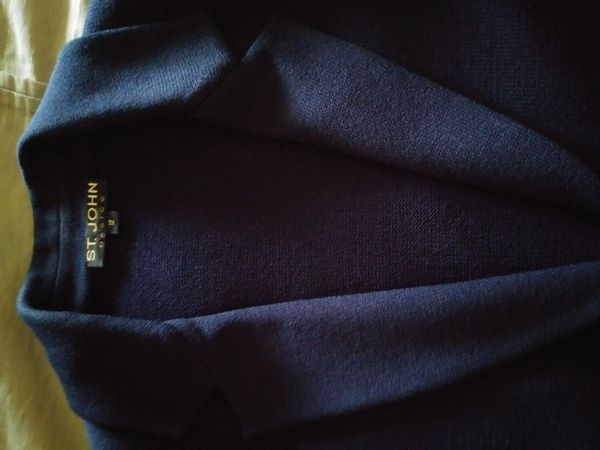 St John's 4 piece suit in navy blue with gold buttons