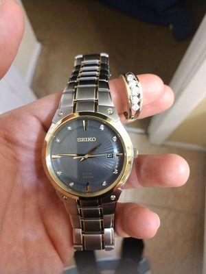 Diamond ring and diamond watch