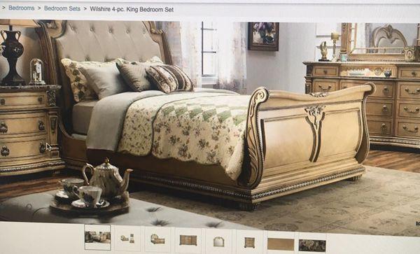 Wilshire 4 Piece king bedroom set (Furniture) in Queens, NY - OfferUp