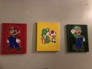 Mario acrylic painting