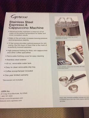 Capresso, Stainless steel, Espresso & Cappuccino Machine