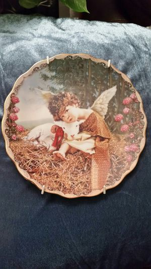 Boy angel collectible plate