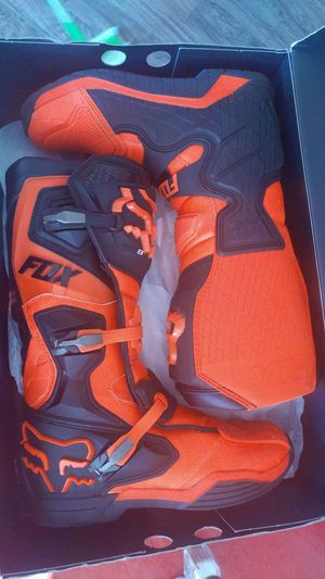 Fox racing boots size M15 orange