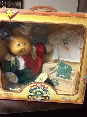 New cabbage patch world traveler doll