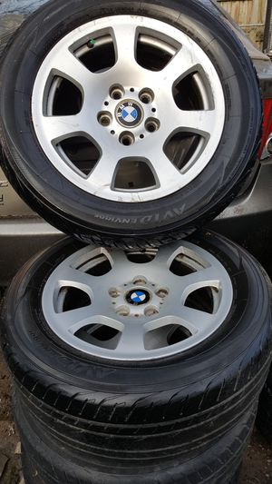 Set of 4 wheels and tires for BMW size 16