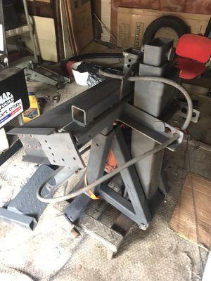 Tow truck hidden wheel lift