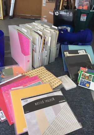 Lots of scrap booking supplies