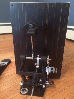 Meinl cajon and cajon pedal