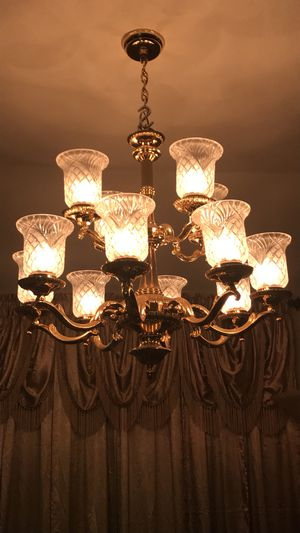 New and used lamp shades for sale in austin tx offerup chandelier lamp crystal shades incl aloadofball Choice Image