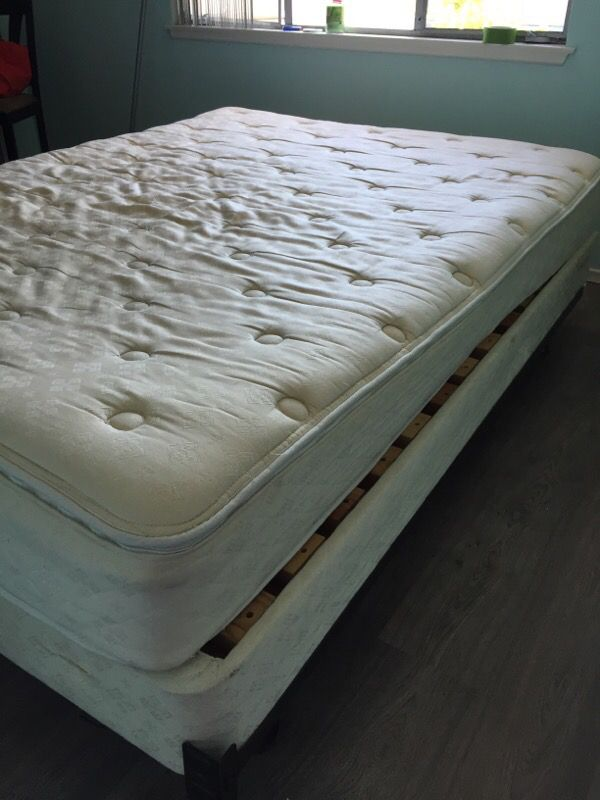 Used Queen size mattress and box spring Furniture in