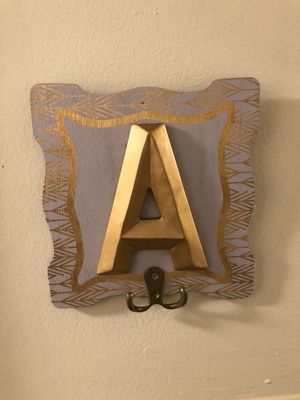 Hanging letter signs with Hooks