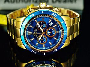 Brand New with Box Invicta Gold 18K Chronograph Men's Watch