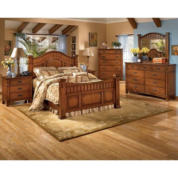 5 Piece Ashley Furniture Cross Island Poster Bedroom Set ...