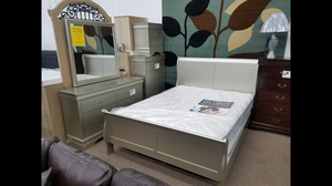 Brand-new champagne color queen size bedroom set complete