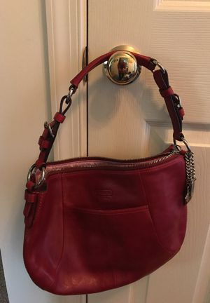 Authentic Coach Purse Red Leather