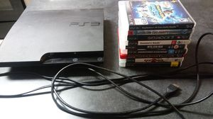 PS3 slim Europe console 500gb with games