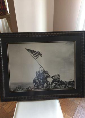 Framed Iwo Jima poster