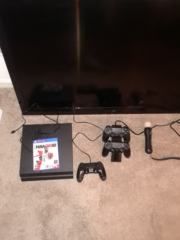 """Westinghouse """"55, ps4, 2k18, 3controllers and a wand"""
