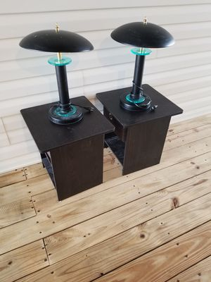 Nightstand and Lamps