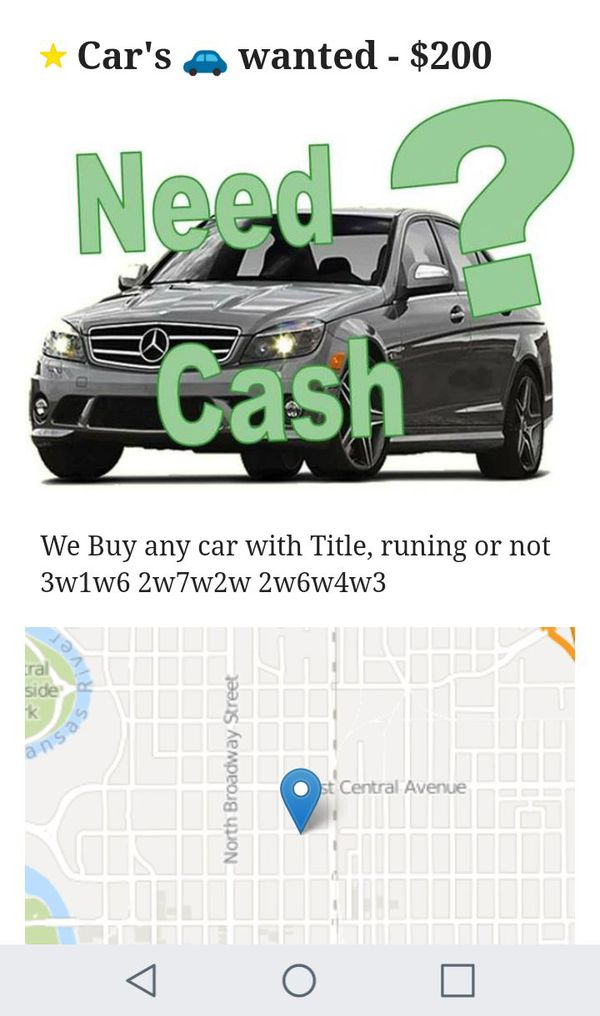 We Buy Junk Cars (Cars & Trucks) in Wichita, KS - OfferUp