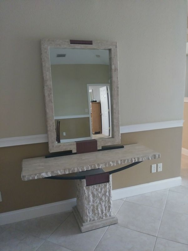 Marble Console Table matching mirror Furniture in Tarpon Springs