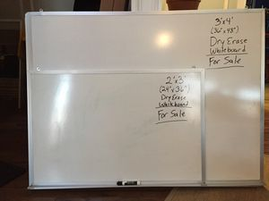Dry Erase White Boards Wall Boards 2x3' and 3'x4'