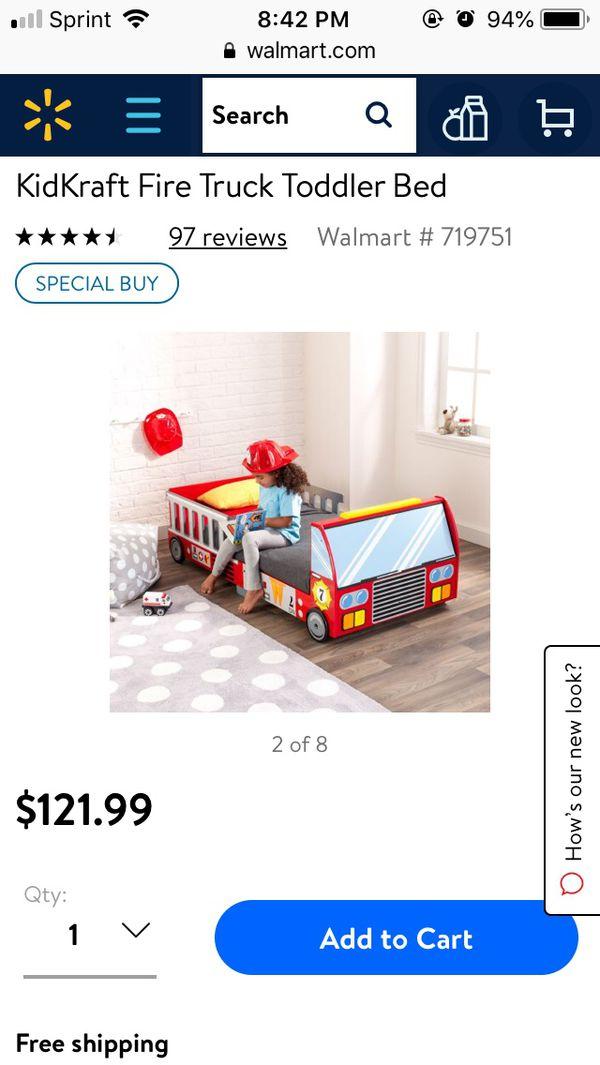 Brand new kidkraft fire truck toddler bed (Baby & Kids) in Dayton ...