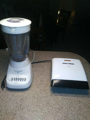 Used, Hamilton Beach 10 speed blender also George Foreman Grill 8 in great condition like new for sale  US
