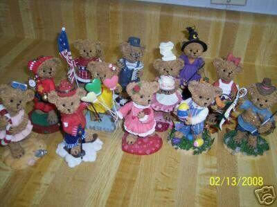 Home Interiors Kuddles Korner Bears figurines set of 12