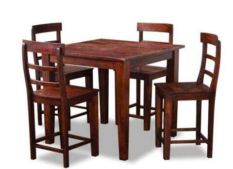 Solid wood table with 4 chairs furniture in auburn wa for Furniture auburn wa
