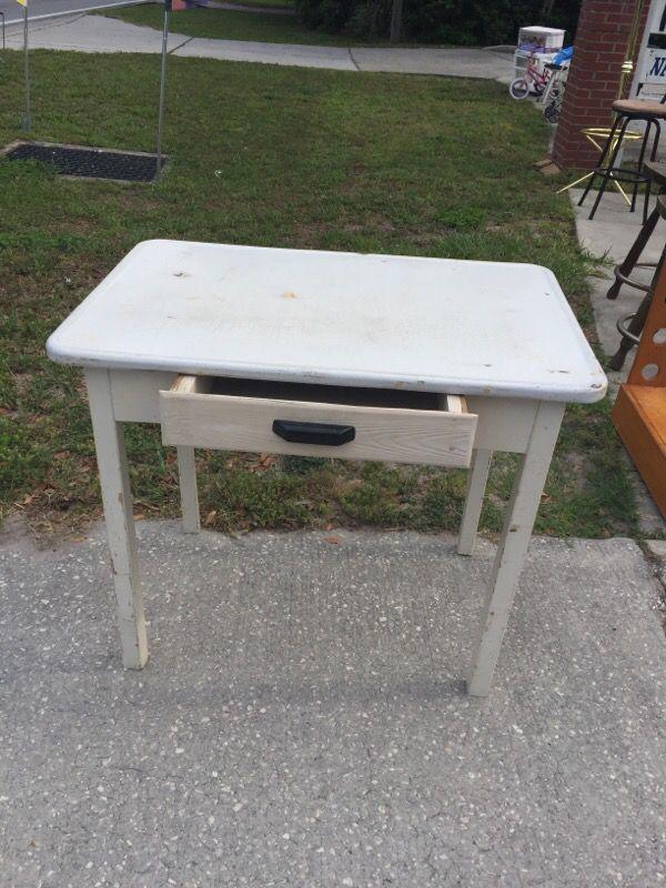 Enamel Top Table Furniture In Lakeland Fl