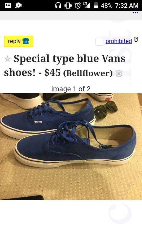 839727dd6eee Special blue vans shoes (Clothing   Shoes) in Bellflower