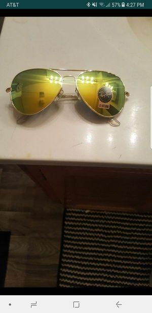 Green Aviator Rayban sunglasses with box