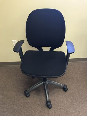 Office chair, a pair of 2, mental feet, mesh seat and back, good condition.
