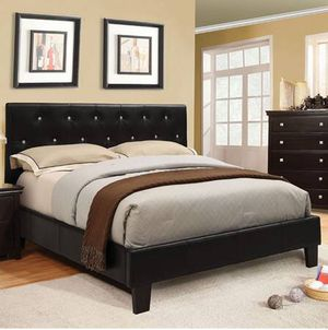 crystal tufted platform bed frame with mattress combo we deliver - Bed Frame And Mattress Combo