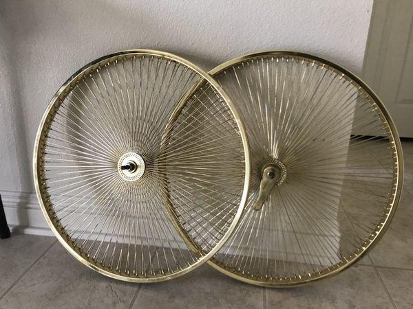 Lowrider Bike Rims 26 Gold Spokes Bicycles In Yuma Az Offerup