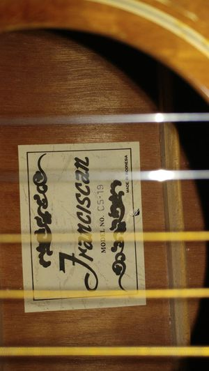 Franciscan cs-19 acoustic guitar