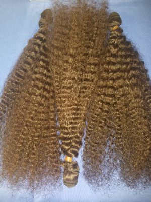 "28"" 3bundles Deep curly Afro long fluffy hair when dry or add products to calm curls.."