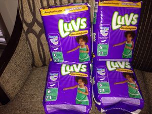 4 Packs of Luvs Diapers. Please See All The Pictures and Read the description