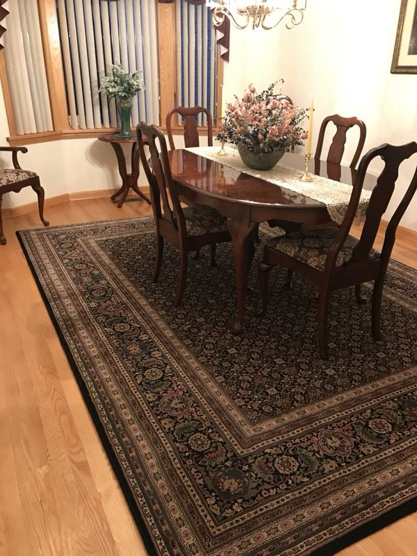 Pennsylvania House Dining Room Table 6 Chairs 2 Leaves Pads And Hutch