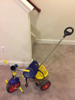 Kettler happy navigator fly tricycle with push bar and utility net multi