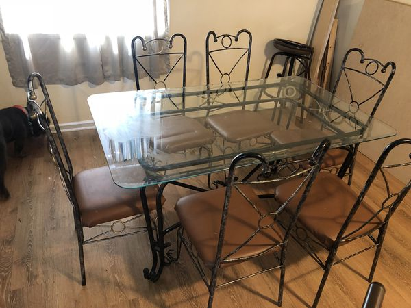 Glass Top Metal Table Furniture In Raleigh NC