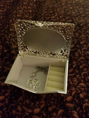 Silver Tree Necklace with a Silver jewelry box