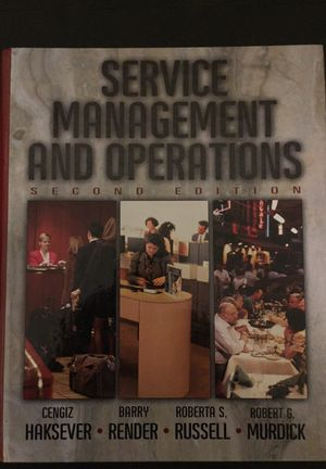 Text Book: Service Management and Operations 2nd edition